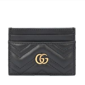 100% Auth Gucci Marmont Card Case Holder